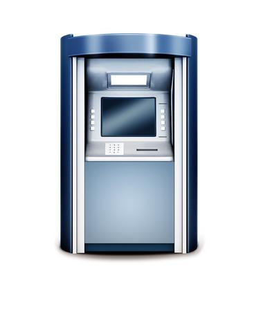 automated teller machine: 3d illustration of Automated teller machine isolated on white