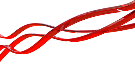 red glass lines isolated on white