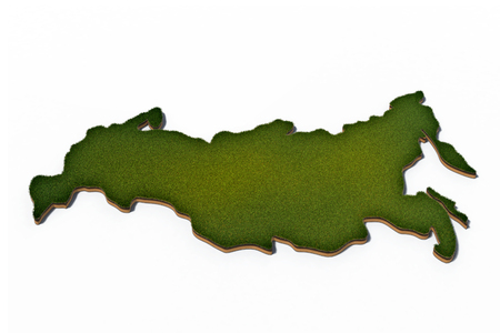 3d rendered illustration of cross section of Russia Federation isolated on white