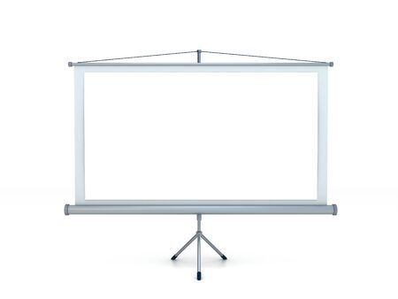 projection: Blank Projection screen Stock Photo