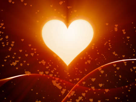 valentine day with heart, love, bokeh Stock Photo