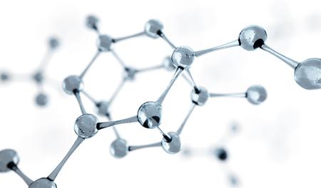 3d illustration of molecule model. Science or medical background with molecules and atoms. Standard-Bild