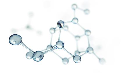 3d ilustración de modelo de la molécula. Ciencia o fondo médico con moléculas y átomos. Foto de archivo - 88611808