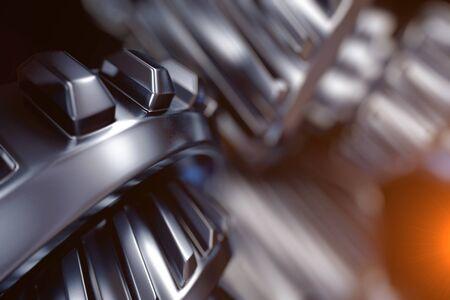 Abbildung 3d der Metallgangradnahaufnahme