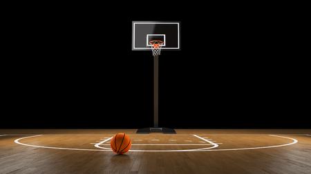 Basketball Arena with basketball ball. Stock Photo