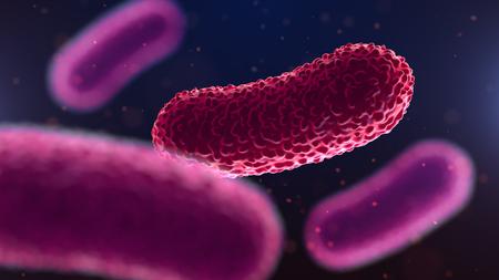 3d illustration of bacteria. Medical background.