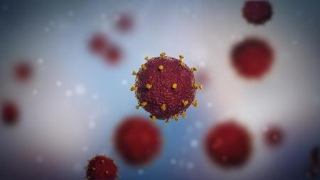3d illustration of HIV virus. Medical concept.