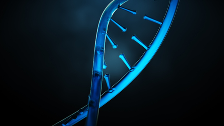 3D rendered illustration of DNA helix. Standard-Bild