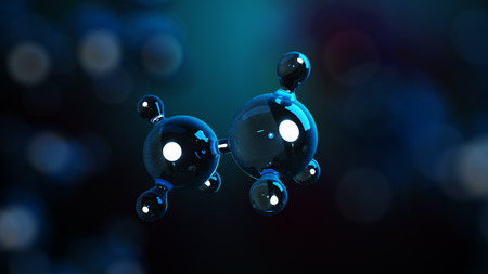 3D illustration molecules. Atoms bacgkround. Medical background. Molecular structure at the atomic level Zdjęcie Seryjne