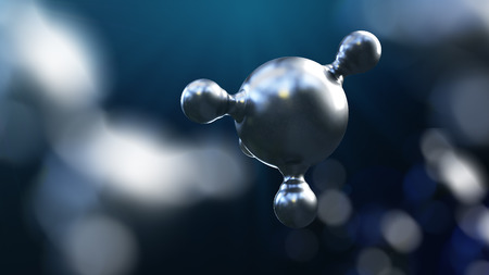 3D illustration of abstract silver metal molecule background. Zdjęcie Seryjne