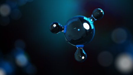 3D illustration molecules. Atoms bacgkround. Medical background. Molecular structure at the atomic level Zdjęcie Seryjne