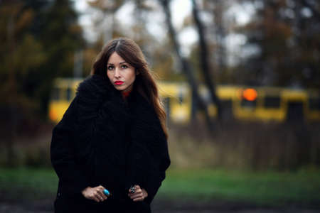 gipsy: Magnificent charming gipsy woman staying outdoor