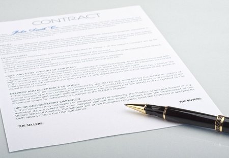 Not signed a contract with a pen on a light background Stock Photo - 10747713