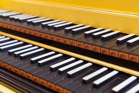 Harpsichord keys close-up Standard-Bild