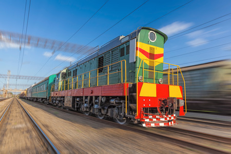 diesel train: High speed diesel train on a clear day