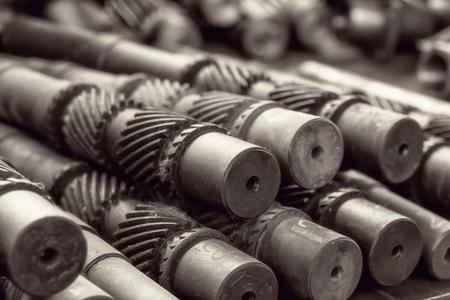 많은 산업 금속 기어 스톡 콘텐츠