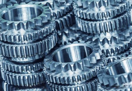 interlocking: Interlocking industrial metal gears