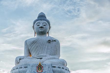 big buddha: Big Buddha monument on the island of Phuket, Thailand Stock Photo