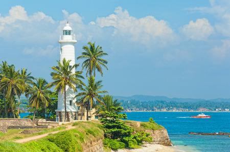 Sri Lanka, Lighthouse Dondra Head 스톡 콘텐츠