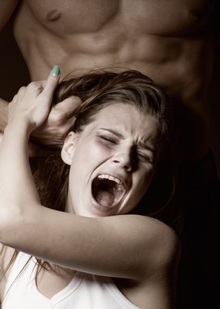 assault: Woman victim of domestic violence and abuse