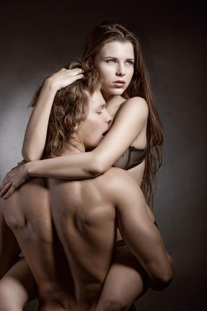 sexe de femme: Sexy couple amoureux Banque d'images