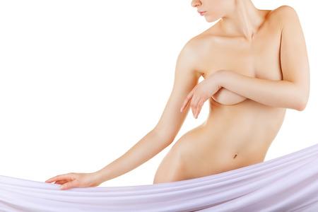 mujeres desnudas: Hermosa mujer delgada Foto de archivo