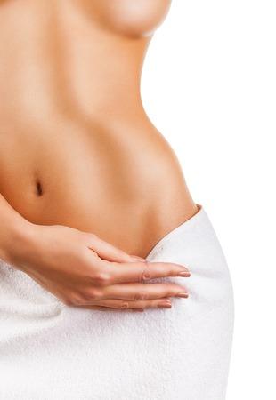 corps femme nue: Belle femme mince Banque d'images