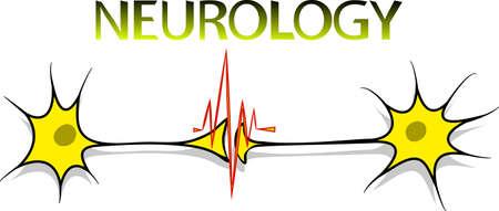 neuralgia: illustration of neurons, neuroscience. symbol, icon