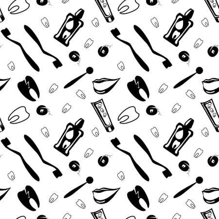 enjuague bucal: Ilustraci�n de la COLUTORIO Vectores