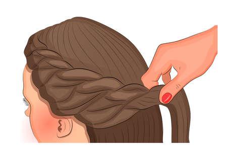 illustration vectorielle pour thème et de la mode publications. L'art de coiffure Vecteurs