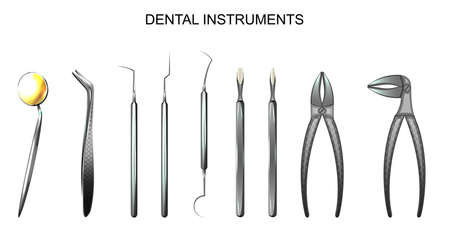 Dental tools, dentistry, medicine