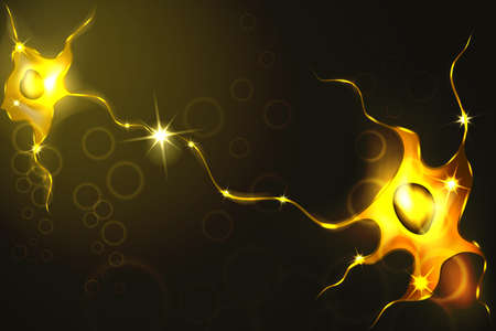 Vector illustration of neurons, a neural network