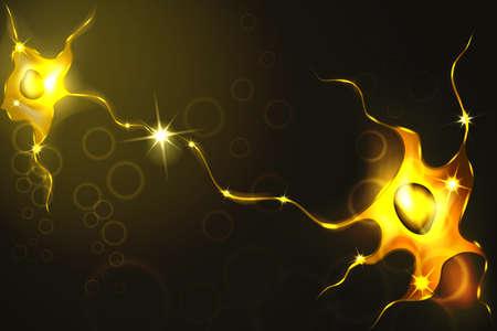 Ilustração vetorial de neurônios, uma rede neural