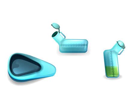 vector illustration of toilet for bedridden patients Banque d'images - 113063729