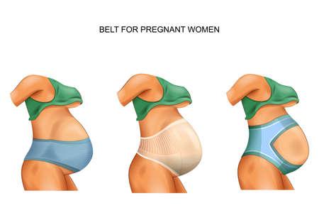 vector illustration of a belt for pregnant women