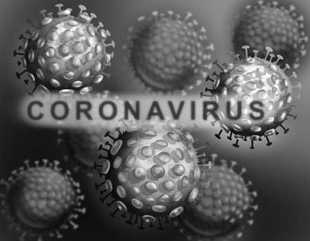 Illustration of the human coronavirus. 2019-nCoV