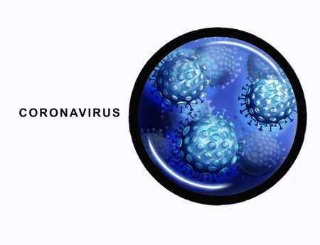 illustration of the human coronavirus