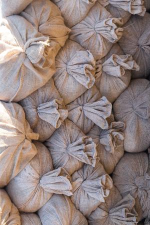 a lot of textile linen provision burlaps