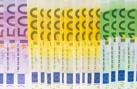 different euro banknotes cash 版權商用圖片