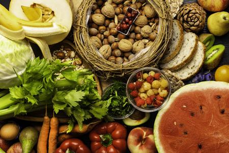 Foods rich in fiber Stock Photo