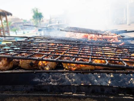 烤肉烟熏烧烤烧烤,野餐时间