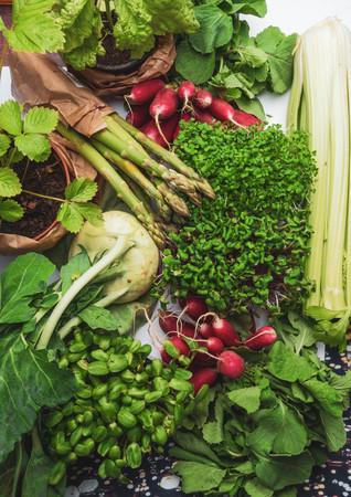 Arrangement of different tasty vegetables background. Healthy Food Concept, rich in vitamins, antioxidant. Summer harvest
