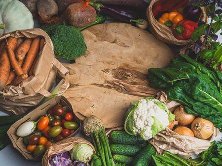 Alkaline foods above the wooden background Stok Fotoğraf