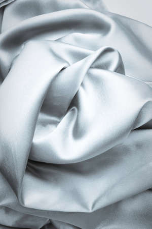 Natural Smooth elegant Grey or Silver Silk Textile Background, drapery fabric satin 版權商用圖片