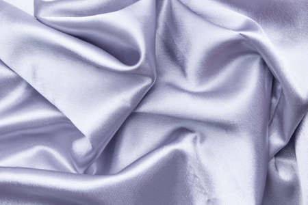 Natural Grey or Silver Silk Textile Background, drapery fabric
