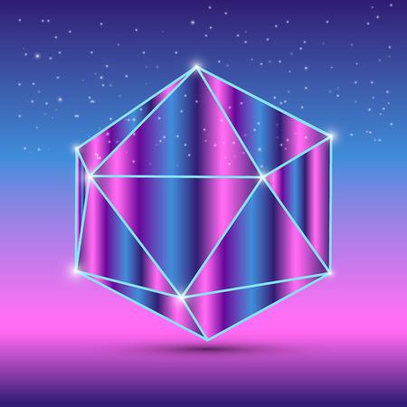 icosahedron: Abstract isometric octahedron