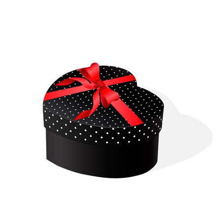 red gift box: Gift box with a red bow