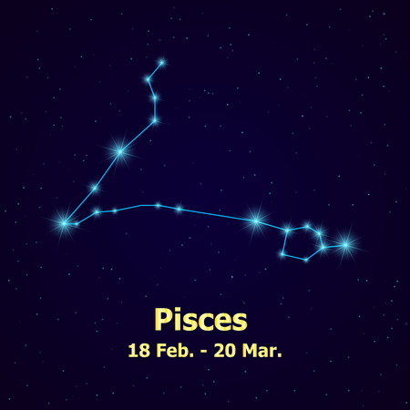 pisces: Symbol: Pisces Sign. Vector Illustration.