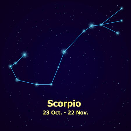 pisces star: Symbol: Scorpio Sign. Vector Illustration.