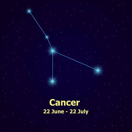 cancer zodiac: Symbol: Cancer Zodiac Sign. Vector Illustration. Illustration